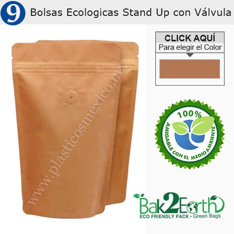 Bolsas Ecologicas Stand Up con Válvula
