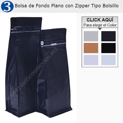 Bolsa de Fondo Plano con Zipper Tipo Bolsillo