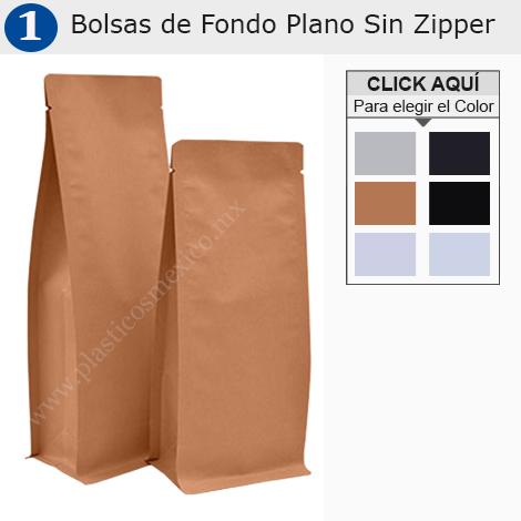 Bolsas de Fondo Plano Sin Zipper