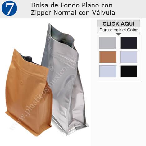 Bolsa de Fondo Plano con Zipper Normal & Válvula