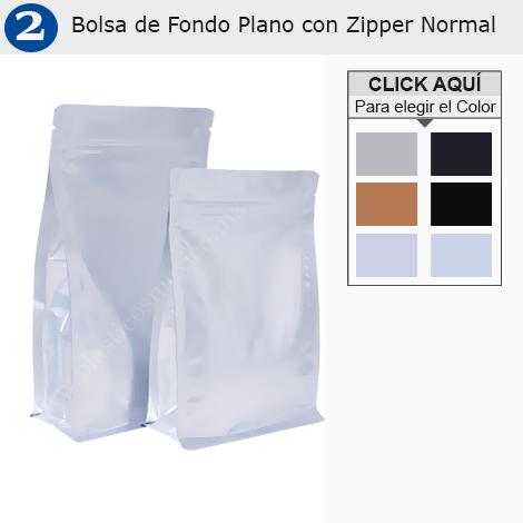 Bolsa de Fondo Plano con Zipper Normal