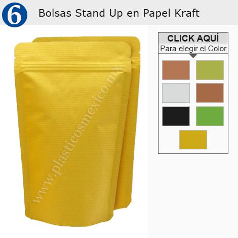 Bolsas Stand Up en Papel Kraft