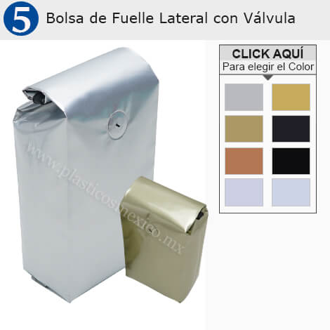 Bolsas de Fuelle Lateral CON válvula