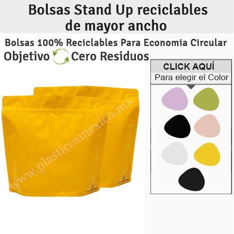 Bolsas Stand Up Reciclables Tamaño más Ancho