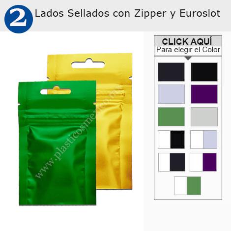 Tres Lados Sellados con Zipper y Euroslot