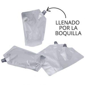 Bolsa con Boquilla de 10 mm (Boquilla Lateral / Llenado por la Boquilla)