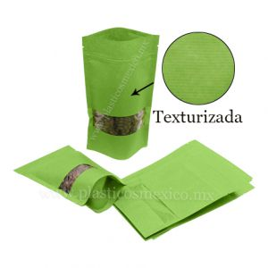 Bolsa Stand Up con Ventana Rectangular