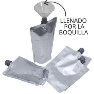 Bolsa con Boquilla de 16 mm (Boquilla Central / Llenado por la Boquilla)